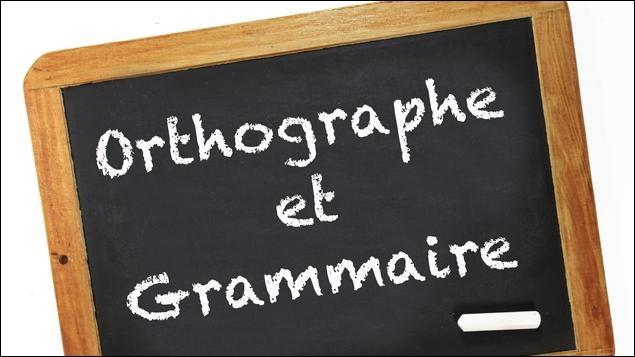 L'orthographe et la grammaire...