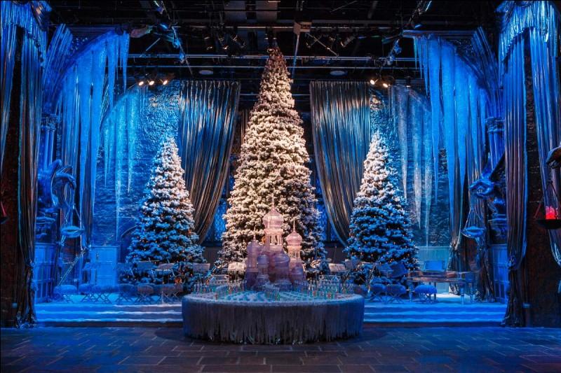 Dans le 4e film, lors du bal de Noël, Hermione descend les escaliers avec une robe. De quelle couleur est-elle ?