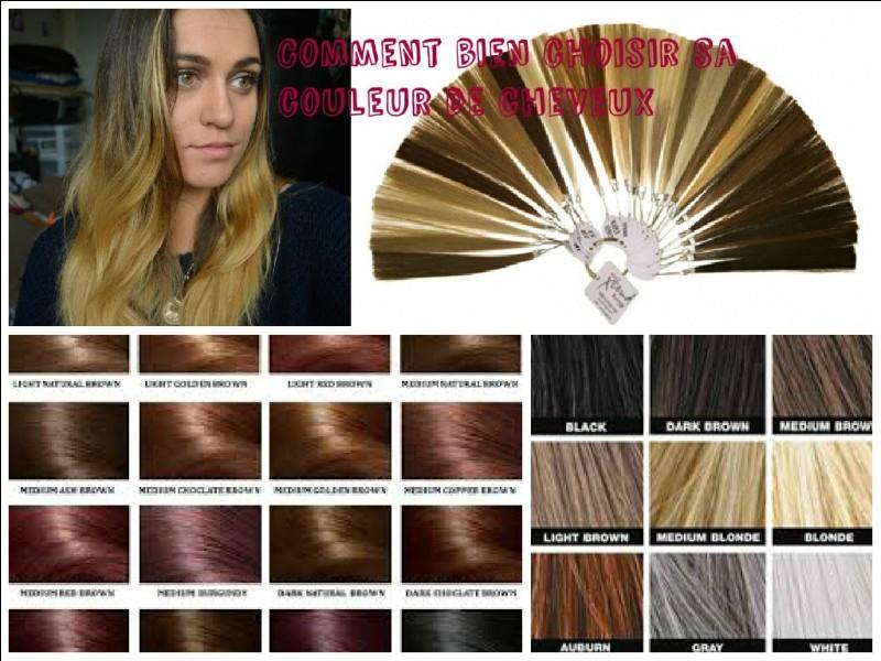 De quelle couleur sont tes cheveux naturellement ?