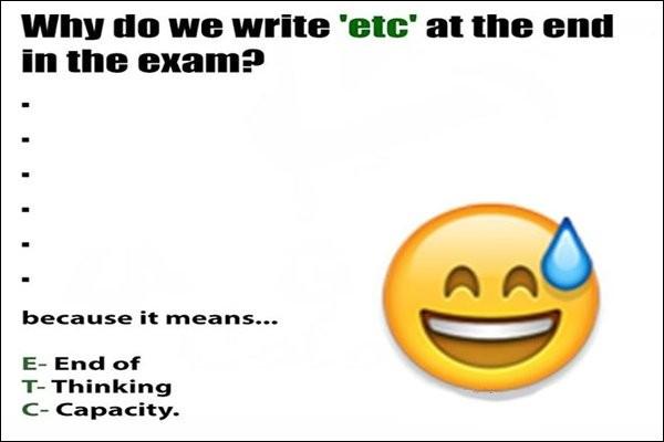 Une fois pour toute : « Etc. » est l'abréviation de...
