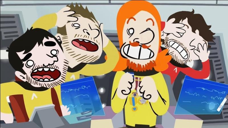 Avec quel youtubeur Super Konar va dans l'espace dans son dessins animés ?