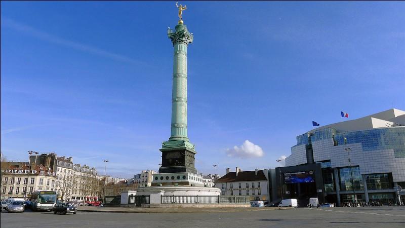 Quel est le nom de cette place ayant en son centre la colonne de Juillet ?