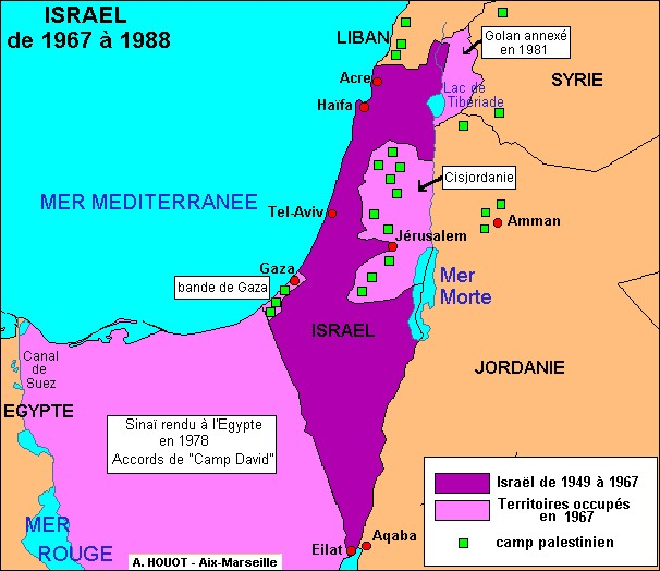 La guerre des Six Jours a été déclarée en 1965.