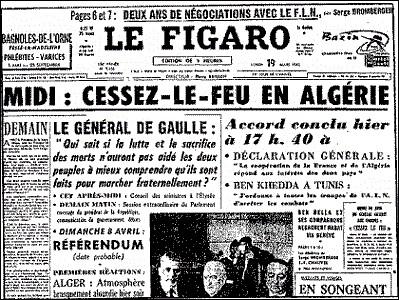 Quel nom portent les accords qui mirent fin à la guerre d'Algérie et lui accordèrent l'indépendance ?