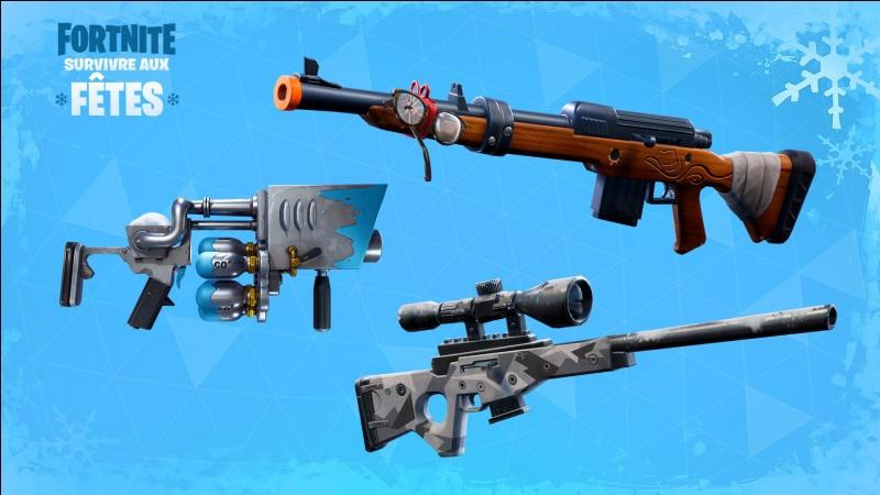"""Quelle arme sur les 3 a-t-on pu voir sur le mode """"Battle Royale"""" lors de la période de Noël ?"""