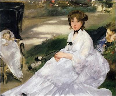 """Cette toile s'intitule """"Dans le jardin, qui l'a peinte ?"""