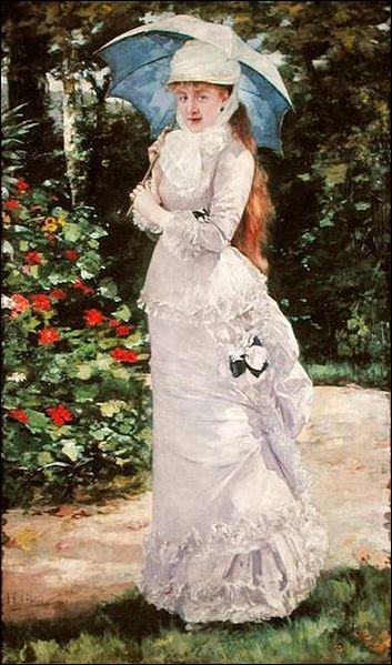 Qui a représenté cette femme en robe blanche ?