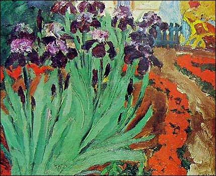 Qui a peint ces iris ?