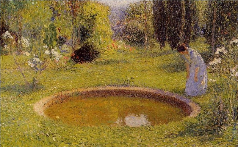 J'ai peint cette femme près d'un bassin, je suis Henri...