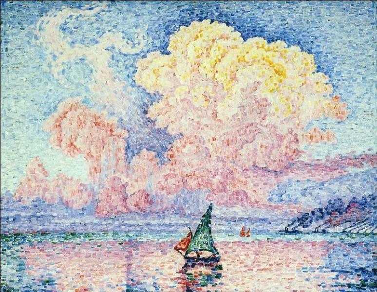 J'ai peint ce nuage rose sur Antibes, je suis Paul...