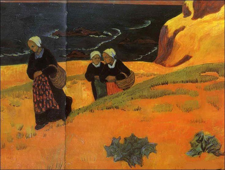 J'ai représenté ces bretonnes au bord de la mer, je suis Paul...