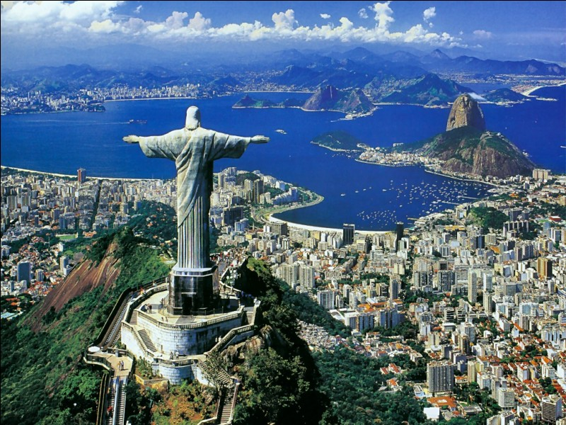 """B - Le """"Brésil"""" est bordé par l'océan Atlantique."""