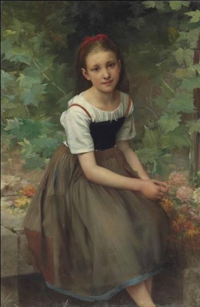 J'ai peint la jeune fille avec des fleurs, je suis William...