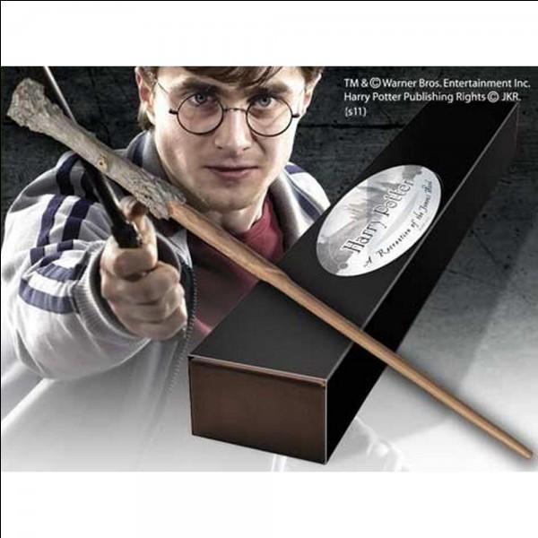 Avec quoi est faite la baguette d'Harry ?