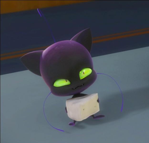 Plagg, le kwami ( petit bonhomme qui permet de se transformer en super-héros) de Chat-Noir, ne pense qu'à manger :