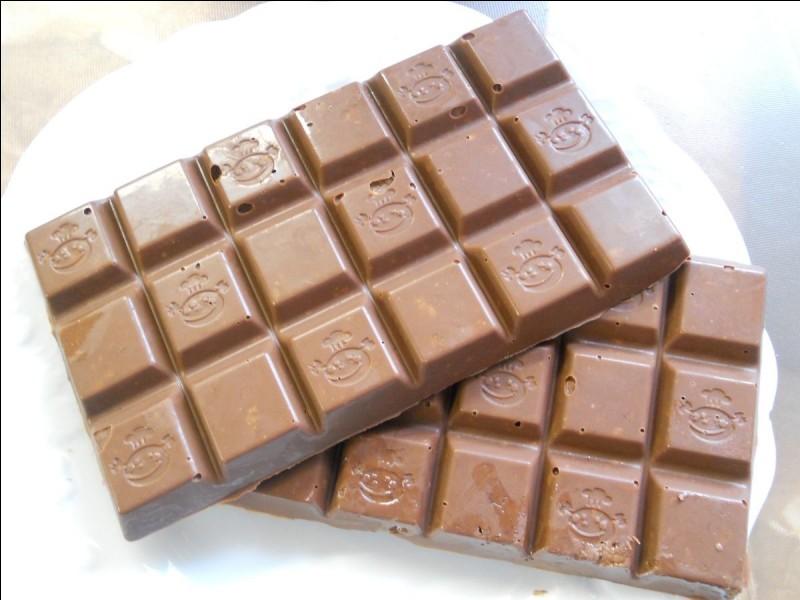 Selon les lois européennes, quel doit être le pourcentage minimum de cacao dans une tablette de chocolat au lait ?
