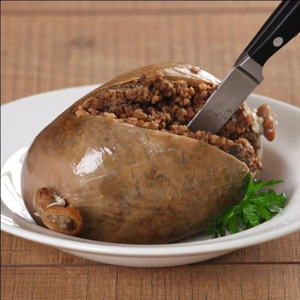 Lequel de ces plats, plat traditionnel écossais, est une panse de brebis farcie ?