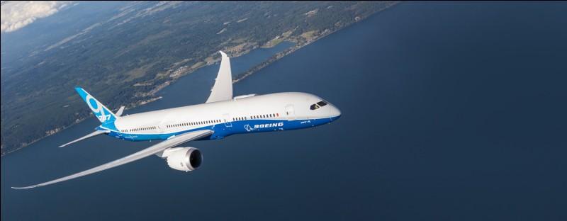 Le Boeing 787 est le dernier de la marque Boeing à être sorti.