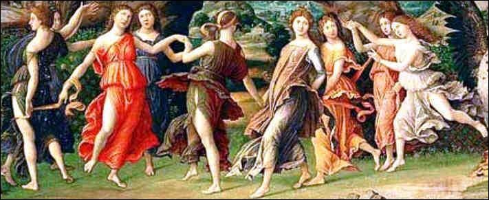 Comment appelle-t-on les neuf filles de Zeus et de Mnémosyne, déesses représentant les idées artistiques et intellectuelles des hommes ?