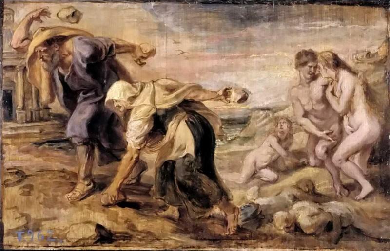 À cause de la méchanceté des hommes, Zeus détruit l'humanité pour en créer une nouvelle. Que déclenche-t-il ?