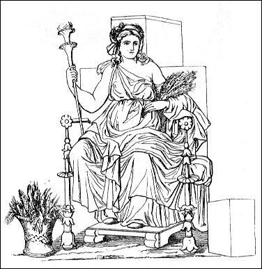 Quelle déesse parcourt la terre entière à la recherche de sa fille disparue, enlevée par le dieu des Enfers ?