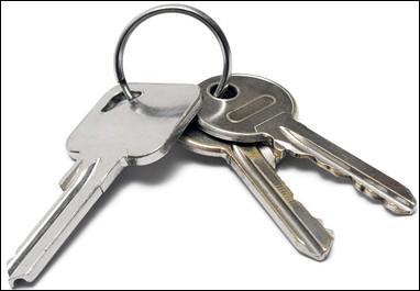 J'ai oublié de prendre les clés de la maison... celle du garage.