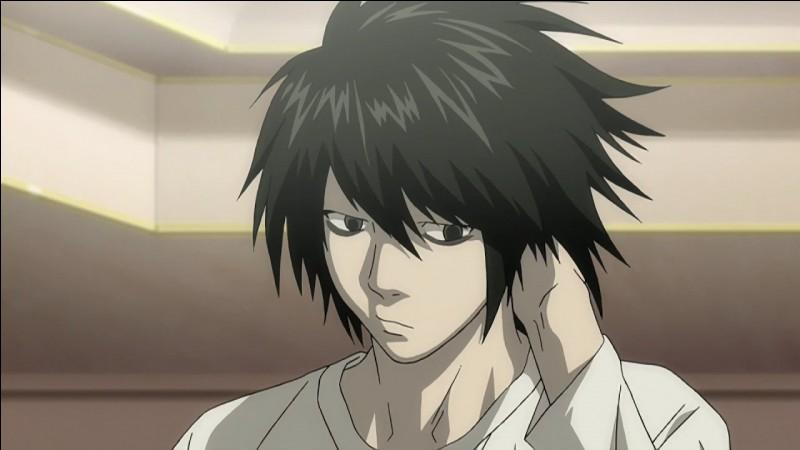 Death Note : il est détective, son nom est seulement une lettre de l'alphabet, il recherche Kira afin de le tuer car il est la justice.