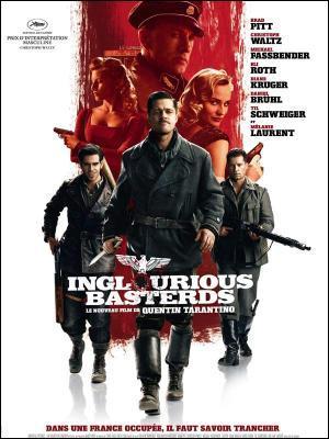 Qui interprête le rôle du lieutenant Aldo Raine dans le film Inglorious Basterds, sorti en 2009 ?