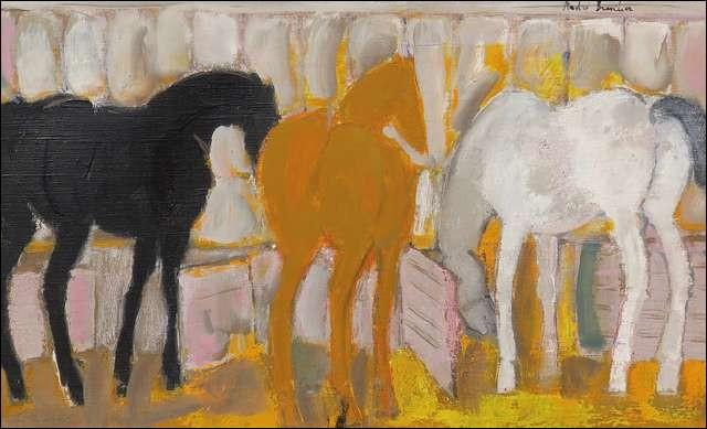 Je suis peintre, ce sont mes chevaux, je suis André...