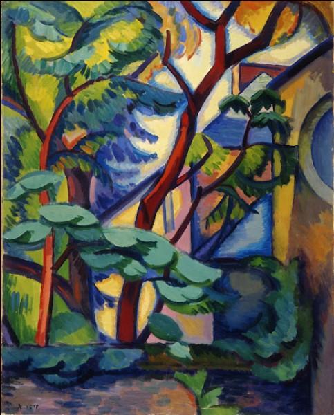 Je suis peintre, j'ai représenté ces arbres, je suis André...