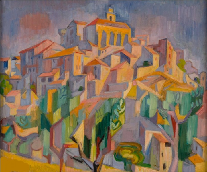 Je suis peintre, j'ai peint ce village, je suis André...