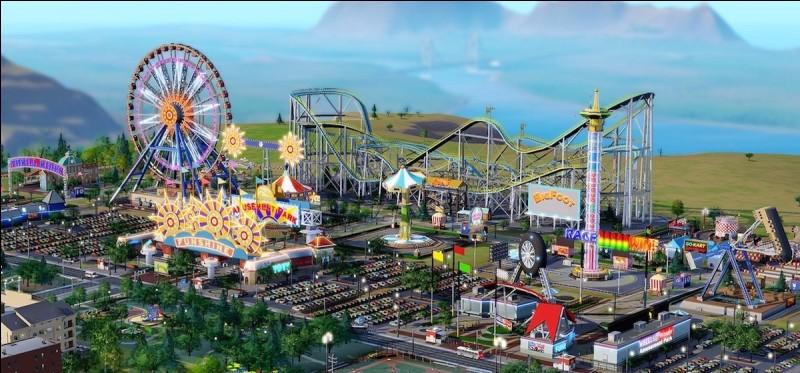 Ce parc dispose : d'une montagne russe, de manèges, de snacks, de restaurants, d'une grande roue. C'est un...