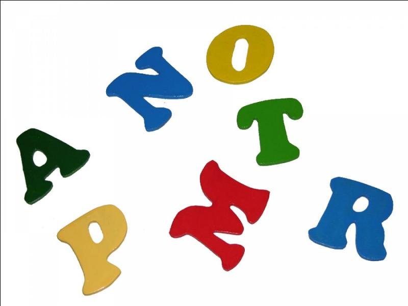 Par quelle lettre commence ton prénom ?