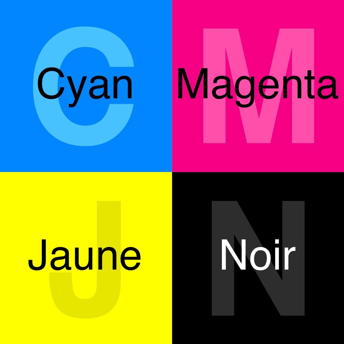 Bleu cyan, rose magenta, jaune ou noir ?