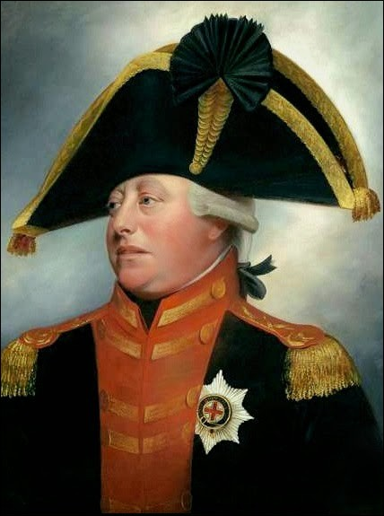 Après les incidents de Boston et de Concord, les demandes pacifiques furent ignorées par le Parlement britannique et les rebelles furent qualifiés de traîtres par la Couronne.George III est, avec raison, souvent critiqué pour s'être obstiné dans cette guerre.Au début de 1778, la France signa un traité avec les États-Unis et le conflit devint international. La France fut rejointe par l'Espagne...