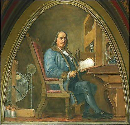 Benjamin Franklin a été un inventeur, un écrivain et un homme politique, comme l'un des Pères fondateurs.Il était apprécié des Français : il négocia le Traité d'alliance de la France avec les États-Unis et aussi le traité de Paris...
