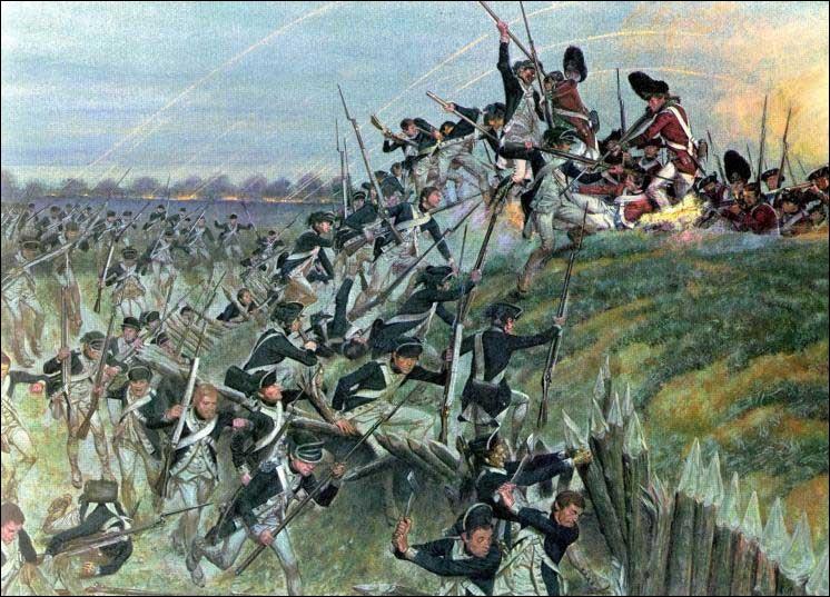La bataille de Yorktown opposa les Américains de George Washington, les volontaires de La Fayette et leurs alliés français commandés par le comte de Rochambeau, aux Britanniques commandés par Lord Cornwallis.L'armée franco-américaine assiégea la ville. L'artillerie française montra son efficacité. Lord Cornwallis se rendit...