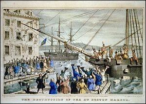 C'est un évènement légendaire qui eut lieu dans le port de Boston en décembre 1773 : organisé par les ''Sons of Liberty'', certains déguisés en Amérindiens pour protester contre des taxes.Ils jetèrent, par-dessus bord, l'entière cargaison de la Compagnie des Indes orientales pour affirmer le principe du ''no taxation without representation''...