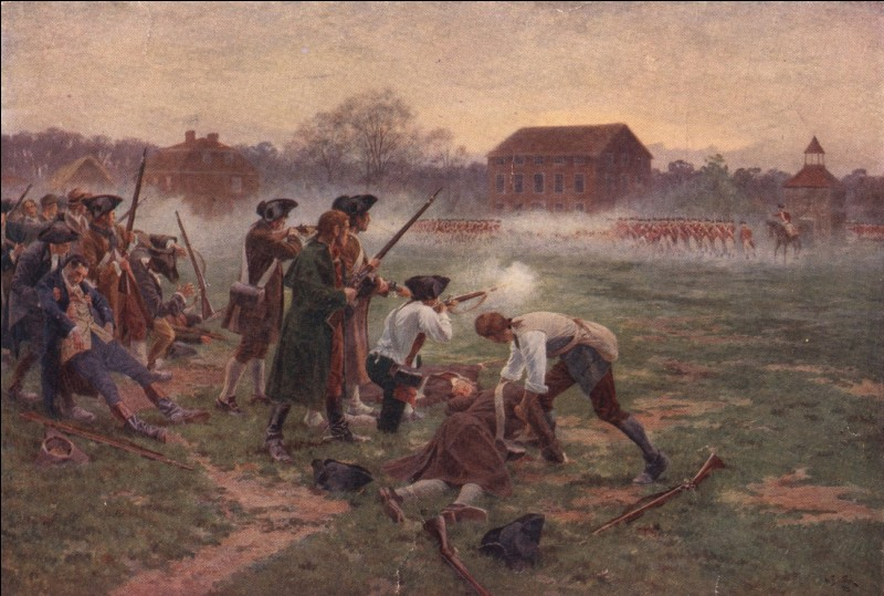 En réponse, les autorités britanniques prirent la décision de tenir un blocus au niveau du port de Boston.La bataille de Lexington et Concord opposa les Américains aux Britanniques et marqua le début de la guerre d'indépendance américaine (1775-1783)... Les affrontements eurent lieu près de Boston le 19 avril et aboutirent au recul des Britanniques et à plusieurs centaines de morts au total...