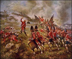 S'ensuivit la bataille de Bunker Hill, encore près de Boston, le 17 juin 1775. L'armée britannique de Howe s'empara d'une batterie de canons américains et infligea des pertes aux effectifs de George Washington.Les Anglais restèrent maîtres du terrain, mais 1 054 furent touchés (228 morts et 826 blessés), tandis que les pertes américaines étaient de 100 morts et 271 blessés...