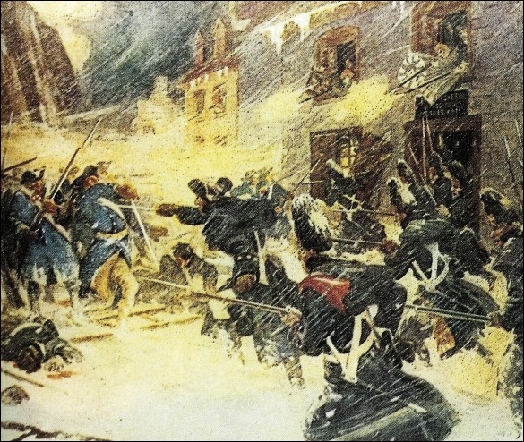 Et le Canada dans tout cela ?Les Franco-Canadiens, pacifiés par la conquête, s'étaient montrés indifférents aux colons américains.Ces derniers n'acceptaient pas que Londres puisse accorder des droits à leurs ennemis de la Nouvelle-France, ces «papistes canadiens».Après leur victoire à Montréal, la bataille de Québec aboutit à la première défaite majeure de la guerre pour les Américains...