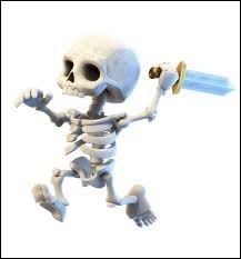 Quelle est la seule carte parmi ces 4 propositions où l'on ne trouve pas de squelettes ?