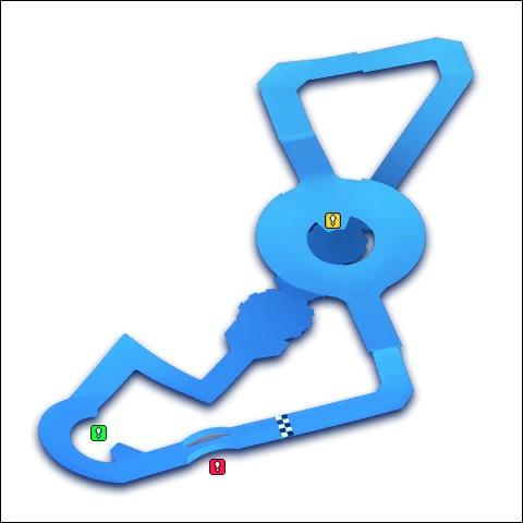 """Voici un circuit qui peut nous rappeler un des niveaux de """"Super Mario 64"""". Il s'agit de..."""