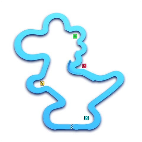 """Même quelqu'un n'ayant jamais joué à """"Mario Kart"""", mais connaissant les personnages de l'univers de Mario pourrait deviner le nom de ce circuit. Il s'agit de..."""