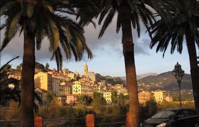 Elle est située à la frontière italienne, la ville frontière du côté italien est Vintimille.