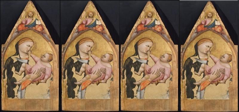 Ce tableau, réalisé en 1310, visible en Avignon est d'un peintre anonyme italien que l'on désigne d'une appellation à 4 chiffres.