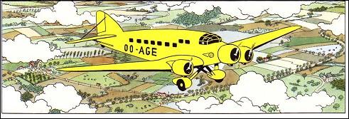 Dans quel avion Tintin et le Professeur Halambique se rendent -ils à Prague ?
