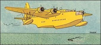 A la dernière vignette de cet album, Tintin et Haddock s'envolent à bord de ce superbe hydravion Short Sunderland. De quel album s'agit-il ?