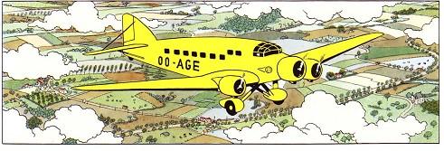 Les avions dans les albums de Tintin