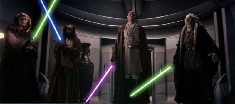 4 Maîtres Jedi ont tenté d'arrêter le Chancelier Palpatine juste avant l'Ordre 66. Lesquels ?